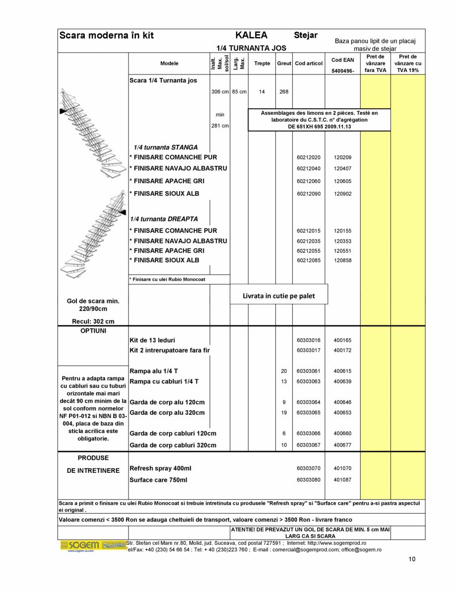 Pagina 11 - Scari moderne pe structura metalica  SOGEM Etna, Atlantis, Eureka, Kronos, Phoenix,...