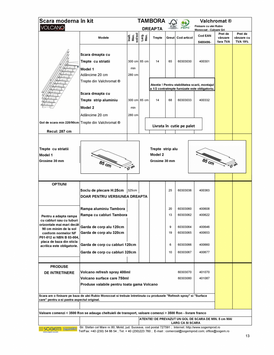 Pagina 14 - Scari moderne pe structura metalica  SOGEM Etna, Atlantis, Eureka, Kronos, Phoenix,...