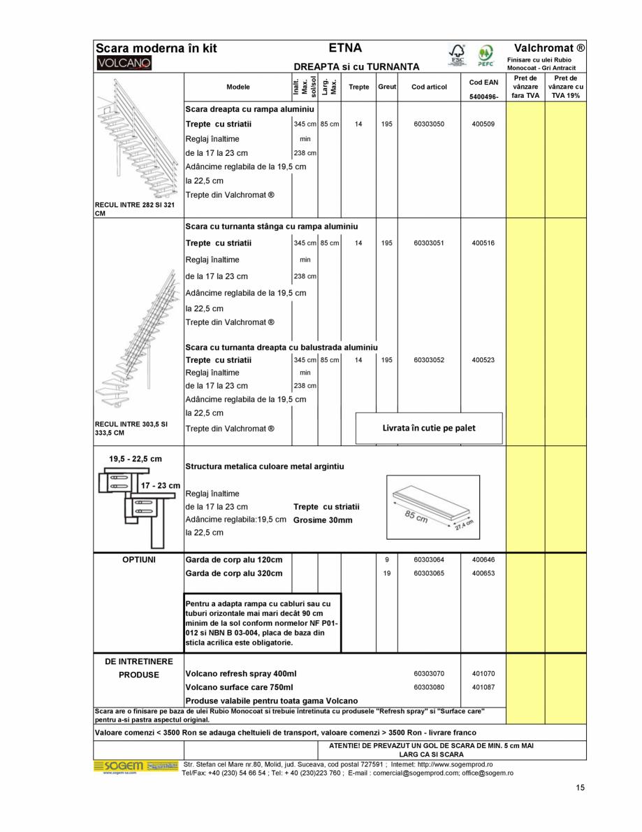 Pagina 16 - Scari moderne pe structura metalica  SOGEM Etna, Atlantis, Eureka, Kronos, Phoenix,...