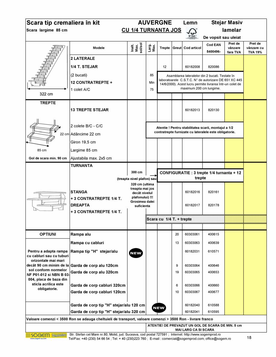 Pagina 19 - Scari moderne pe structura metalica  SOGEM Etna, Atlantis, Eureka, Kronos, Phoenix,...