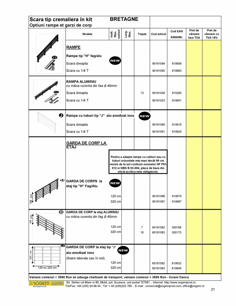Pagina 22 - Scari moderne pe structura metalica  SOGEM Etna, Atlantis, Eureka, Kronos, Phoenix,...