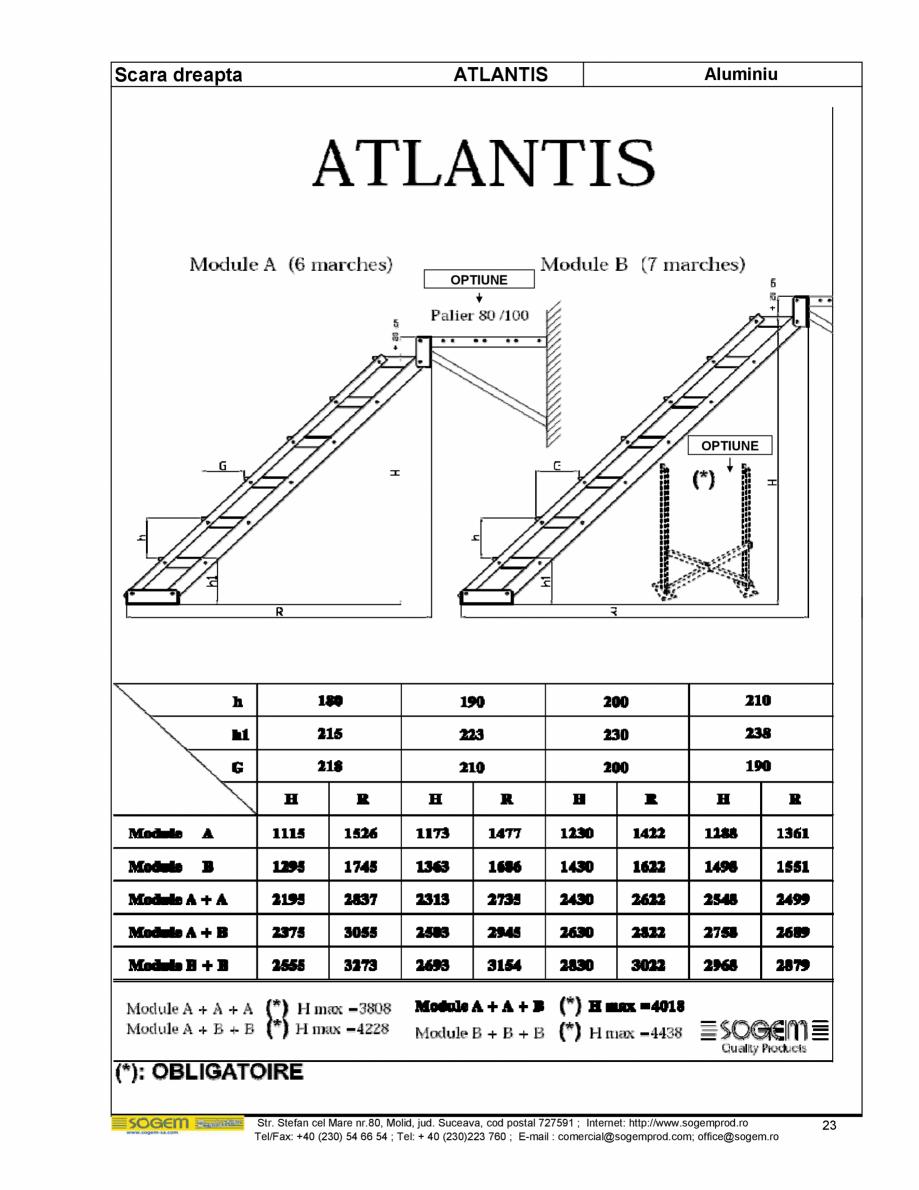 Pagina 24 - Scari moderne pe structura metalica  SOGEM Etna, Atlantis, Eureka, Kronos, Phoenix,...