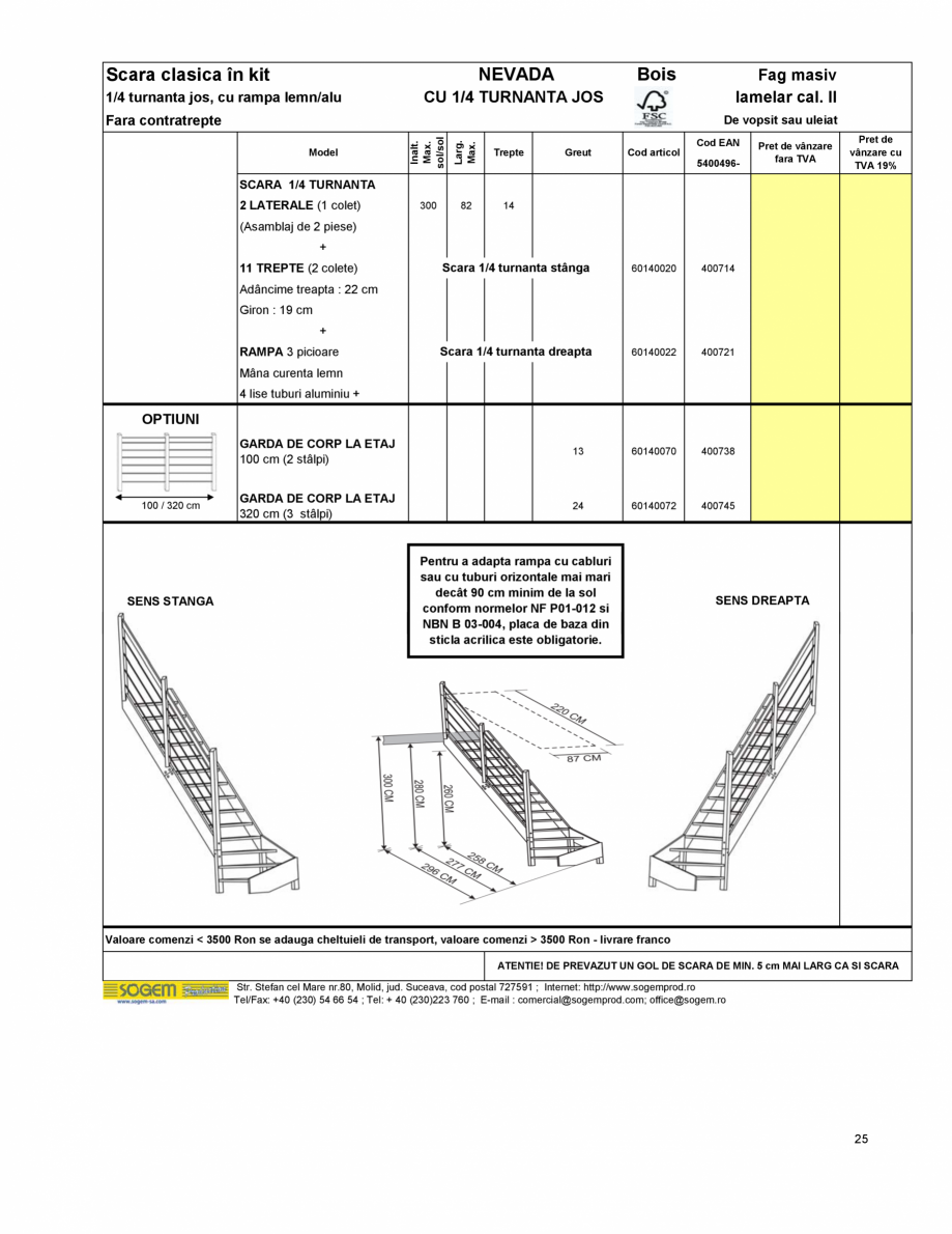 Pagina 27 - Scari moderne pe structura metalica  SOGEM Etna, Atlantis, Eureka, Kronos, Phoenix,...