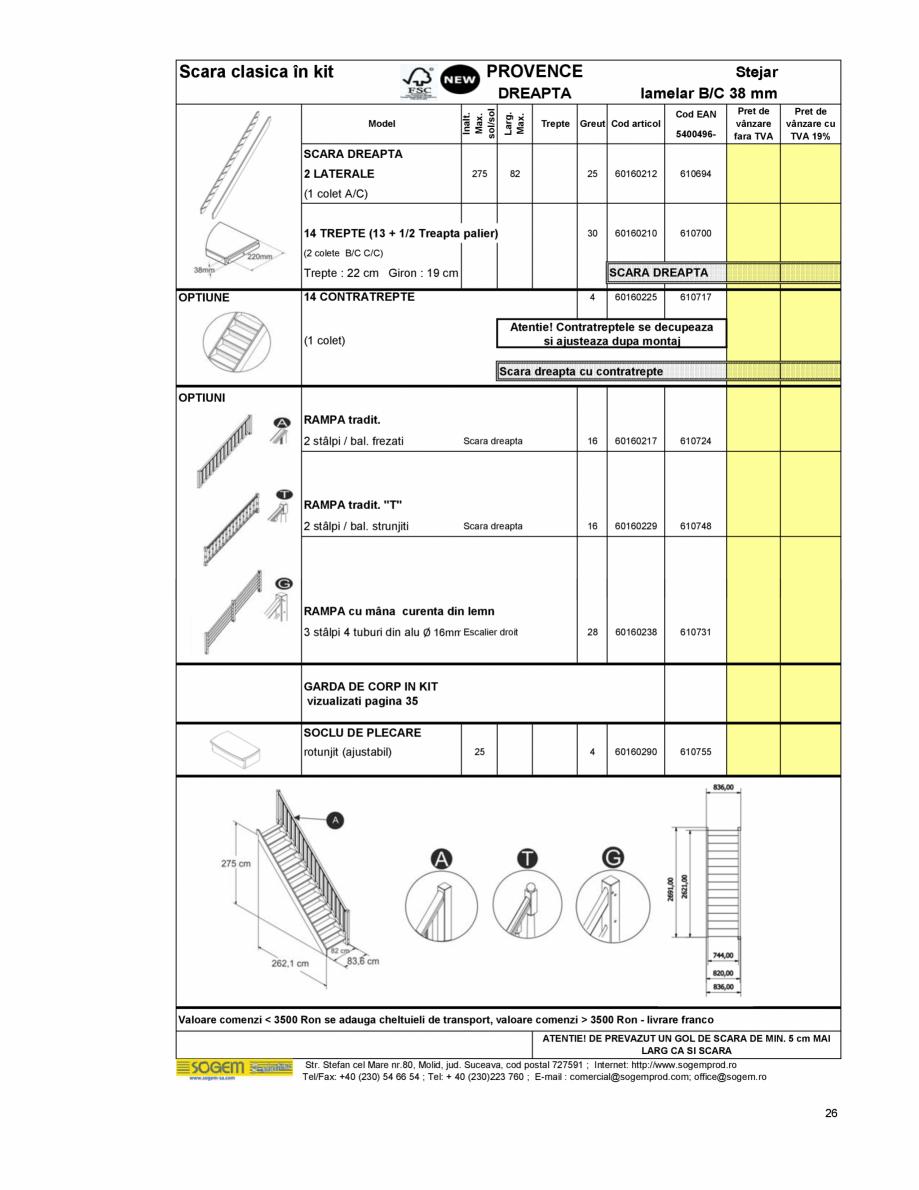 Pagina 28 - Scari moderne pe structura metalica  SOGEM Etna, Atlantis, Eureka, Kronos, Phoenix,...