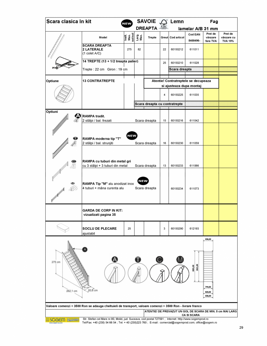 Pagina 31 - Scari moderne pe structura metalica  SOGEM Etna, Atlantis, Eureka, Kronos, Phoenix,...