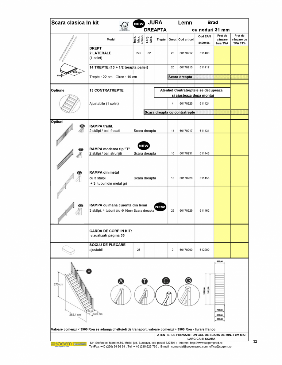 Pagina 34 - Scari moderne pe structura metalica  SOGEM Etna, Atlantis, Eureka, Kronos, Phoenix,...
