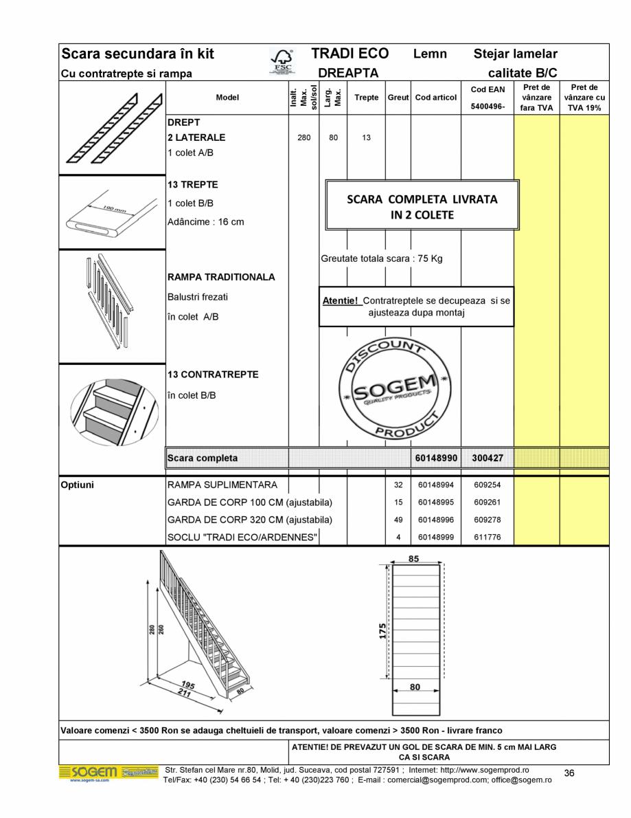 Pagina 38 - Scari moderne pe structura metalica  SOGEM Etna, Atlantis, Eureka, Kronos, Phoenix,...