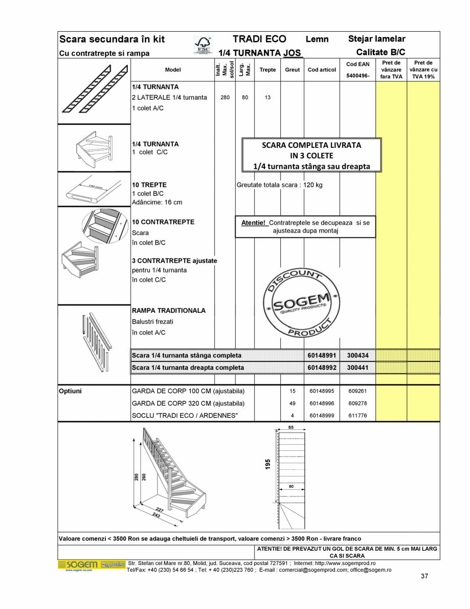 Pagina 39 - Scari moderne pe structura metalica  SOGEM Etna, Atlantis, Eureka, Kronos, Phoenix,...