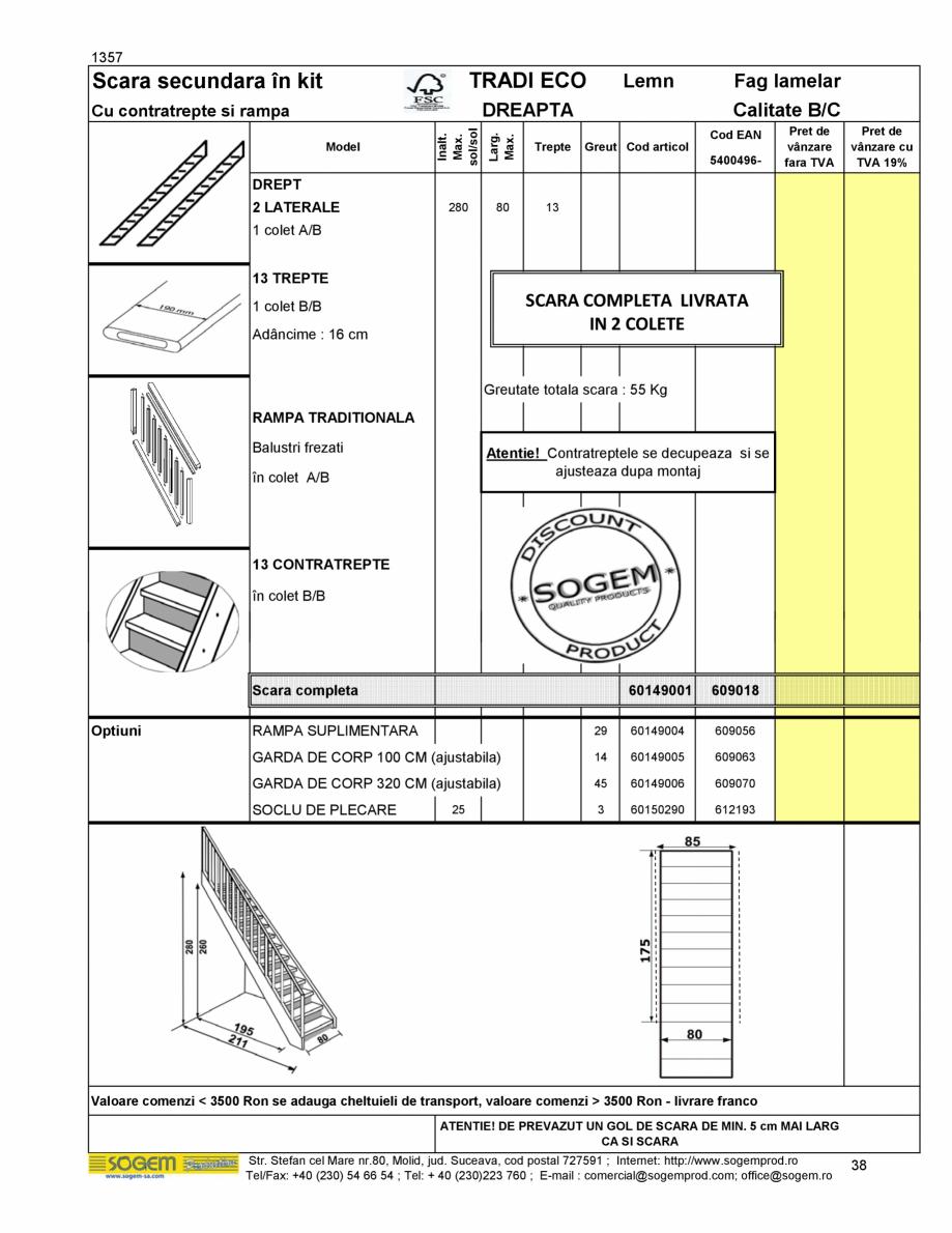 Pagina 40 - Scari moderne pe structura metalica  SOGEM Etna, Atlantis, Eureka, Kronos, Phoenix,...