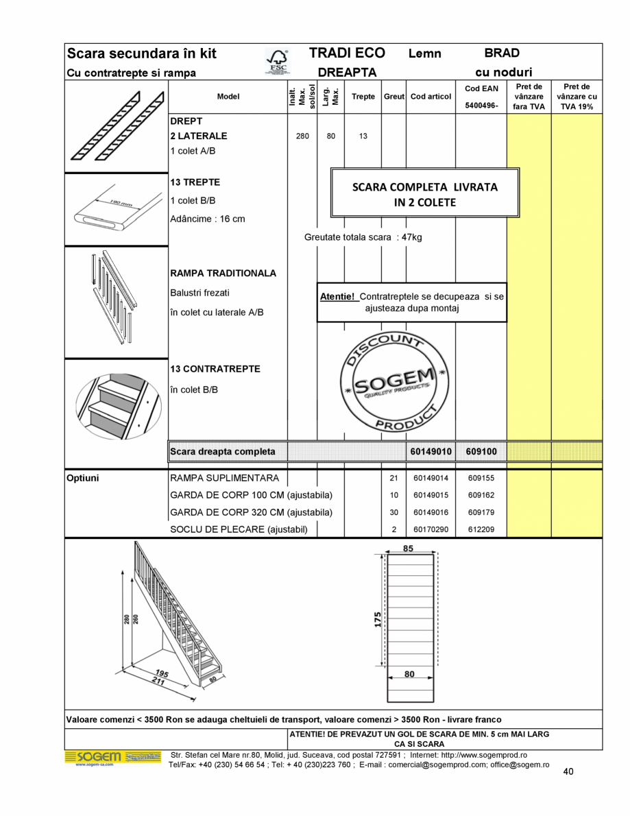 Pagina 42 - Scari moderne pe structura metalica  SOGEM Etna, Atlantis, Eureka, Kronos, Phoenix,...