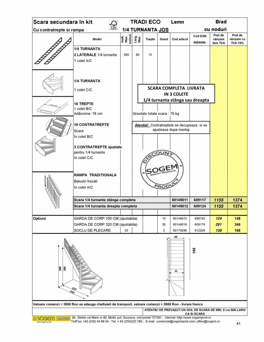Pagina 43 - Scari moderne pe structura metalica  SOGEM Etna, Atlantis, Eureka, Kronos, Phoenix,...