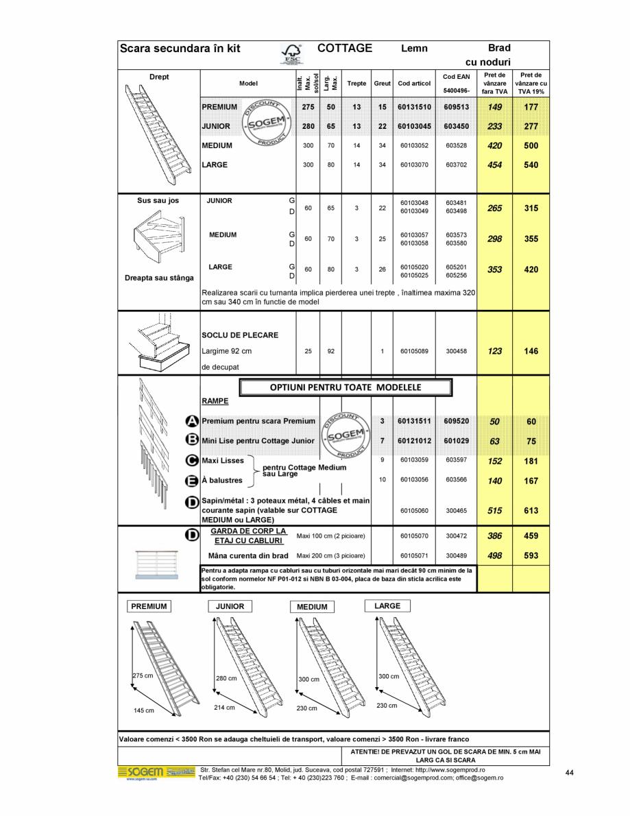 Pagina 46 - Scari moderne pe structura metalica  SOGEM Etna, Atlantis, Eureka, Kronos, Phoenix,...