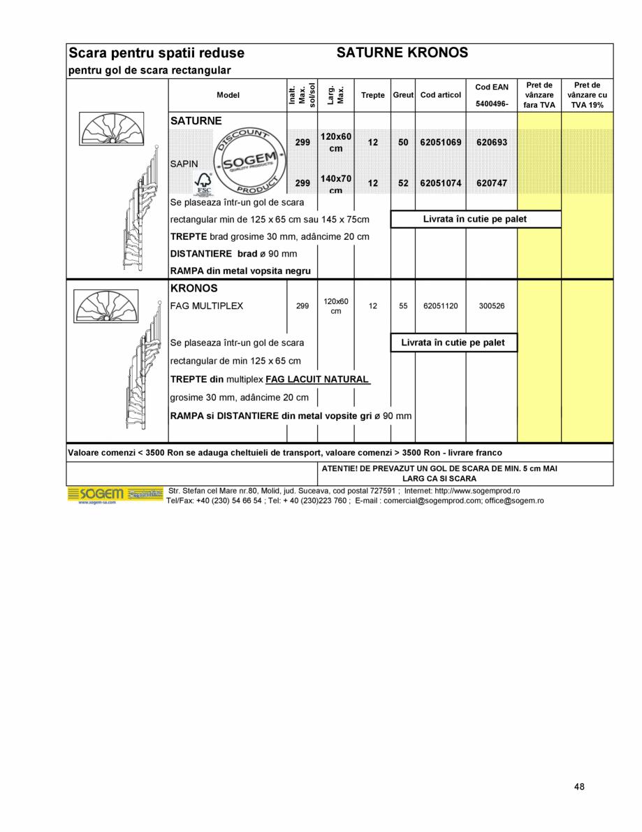 Pagina 51 - Scari moderne pe structura metalica  SOGEM Etna, Atlantis, Eureka, Kronos, Phoenix,...