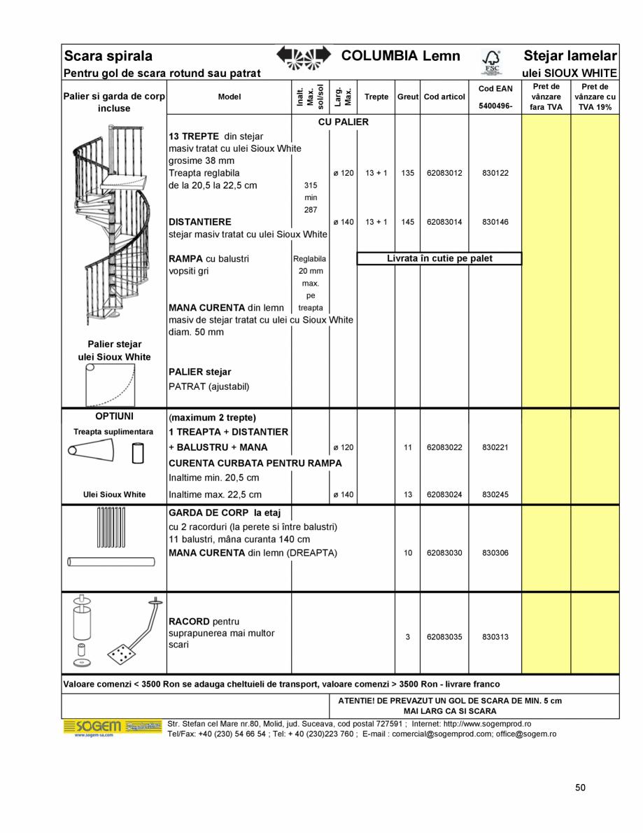 Pagina 54 - Scari moderne pe structura metalica  SOGEM Etna, Atlantis, Eureka, Kronos, Phoenix,...