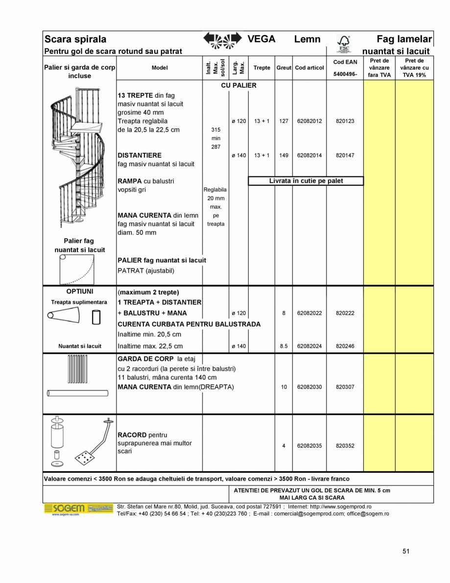 Pagina 55 - Scari moderne pe structura metalica  SOGEM Etna, Atlantis, Eureka, Kronos, Phoenix,...