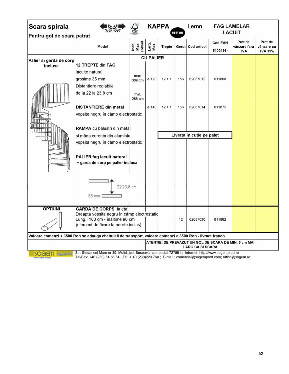 Pagina 56 - Scari moderne pe structura metalica  SOGEM Etna, Atlantis, Eureka, Kronos, Phoenix,...