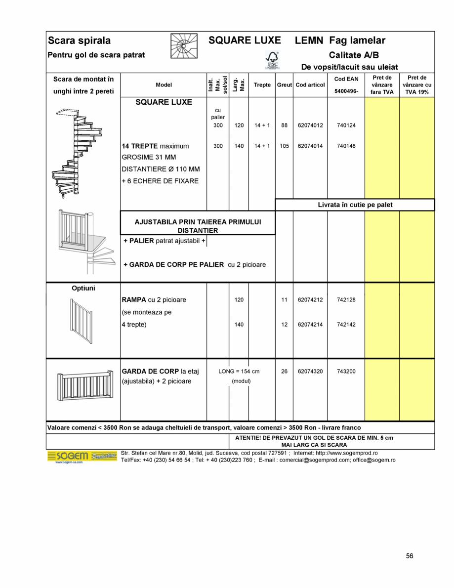 Pagina 60 - Scari moderne pe structura metalica  SOGEM Etna, Atlantis, Eureka, Kronos, Phoenix,...