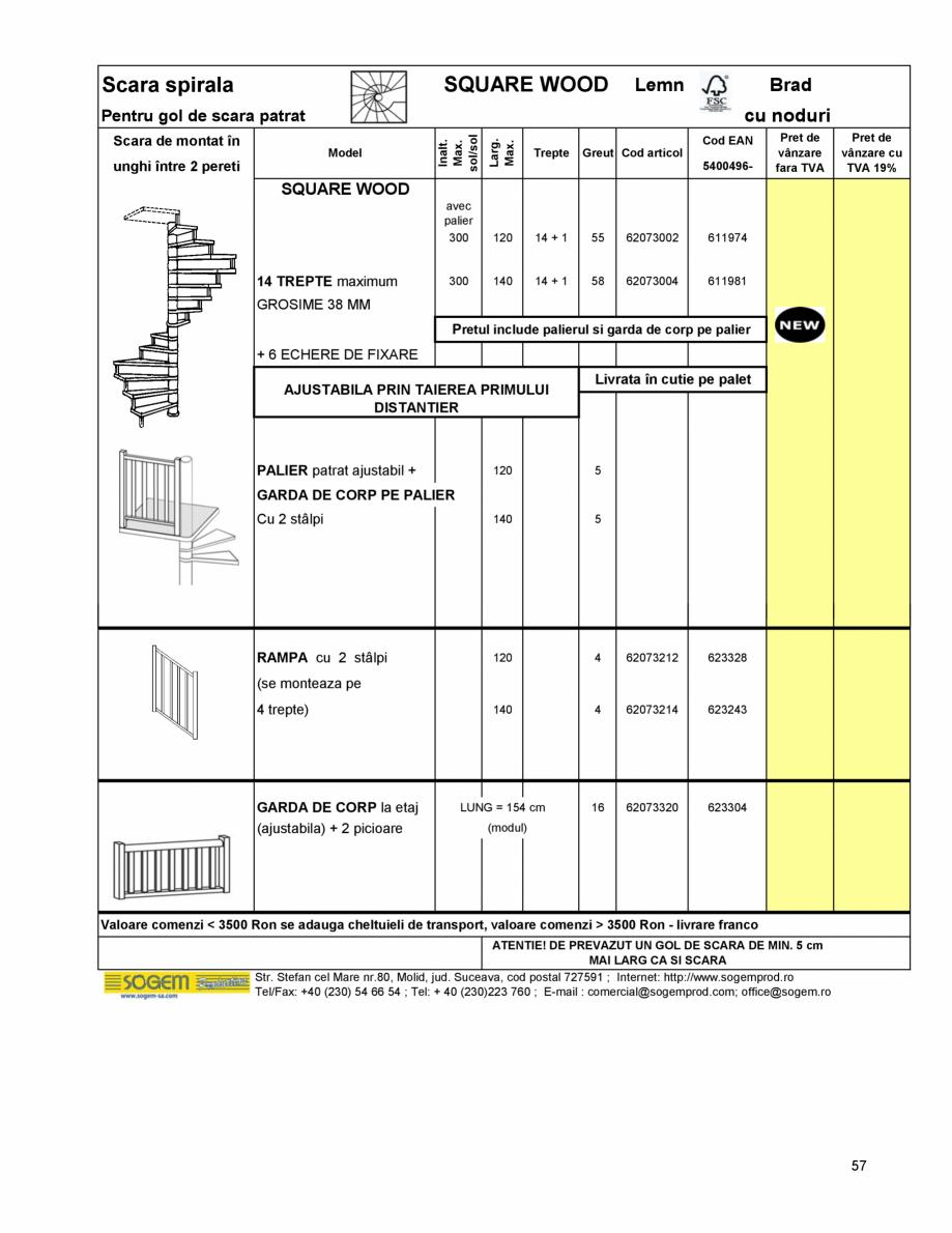 Pagina 61 - Scari moderne pe structura metalica  SOGEM Etna, Atlantis, Eureka, Kronos, Phoenix,...
