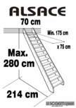 Scara pe structura din lemn SOGEM - Alsace