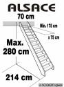 Scara pe structura din lemn