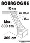Scara pe structura din lemn SOGEM - Bourgogne