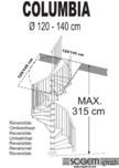 Scara pe structura din lemn SOGEM - Columbia