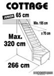 Scara pe structura din lemn - Junior 320 SOGEM - Cottage