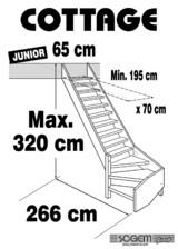 Scara pe structura din lemn - Junior 320 SOGEM