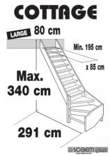 Scara pe structura din lemn - Large 340 SOGEM