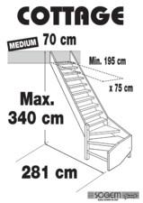 Scara pe structura din lemn - Medium 340 SOGEM