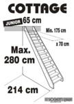 Scara pe structura din lemn - Junior 280 SOGEM - Cottage