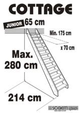 Scara pe structura din lemn - Junior 280 SOGEM