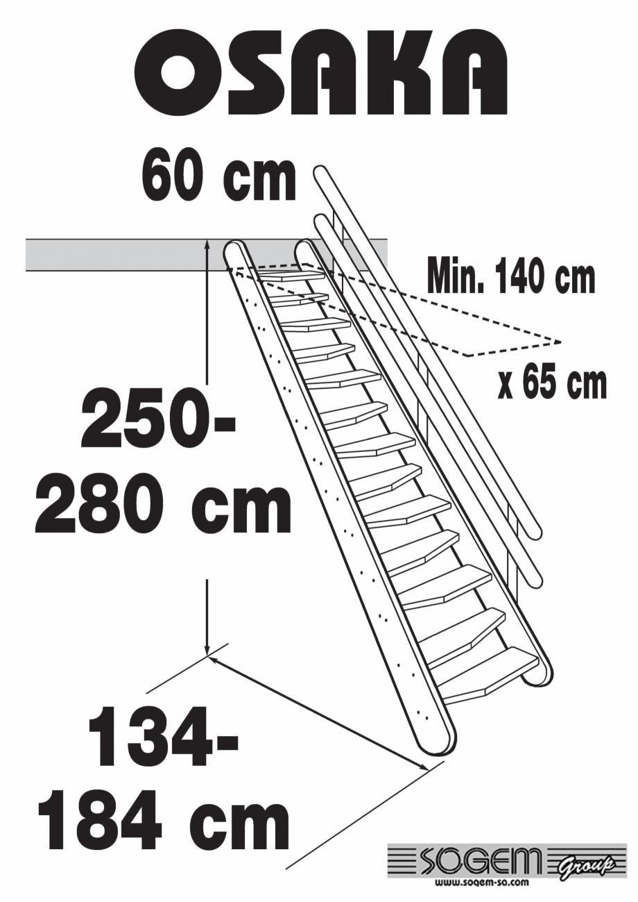 Pagina 1 - Scara pe structura din lemn SOGEM Osaka Fisa tehnica