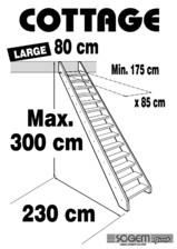 Scara pe structura din lemn - Large 300 SOGEM