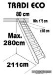 Scara pe structura din lemn SOGEM - Tradieco