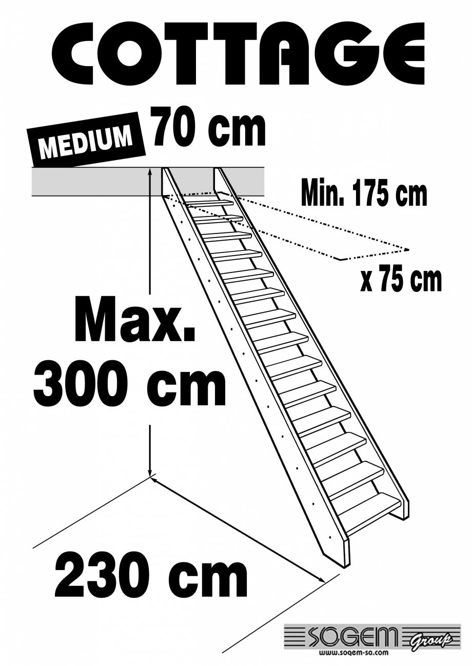 Pagina 1 - Scara pe structura din lemn - Medium 300 SOGEM Cottage Fisa tehnica