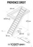 Scari pe structura din lemn SOGEM - Provence