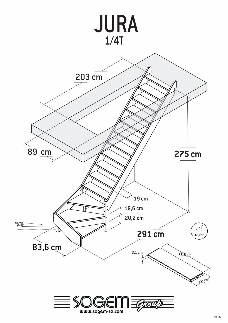 Pagina 3 - Scari pe structura din lemn SOGEM Jura Fisa tehnica Romana