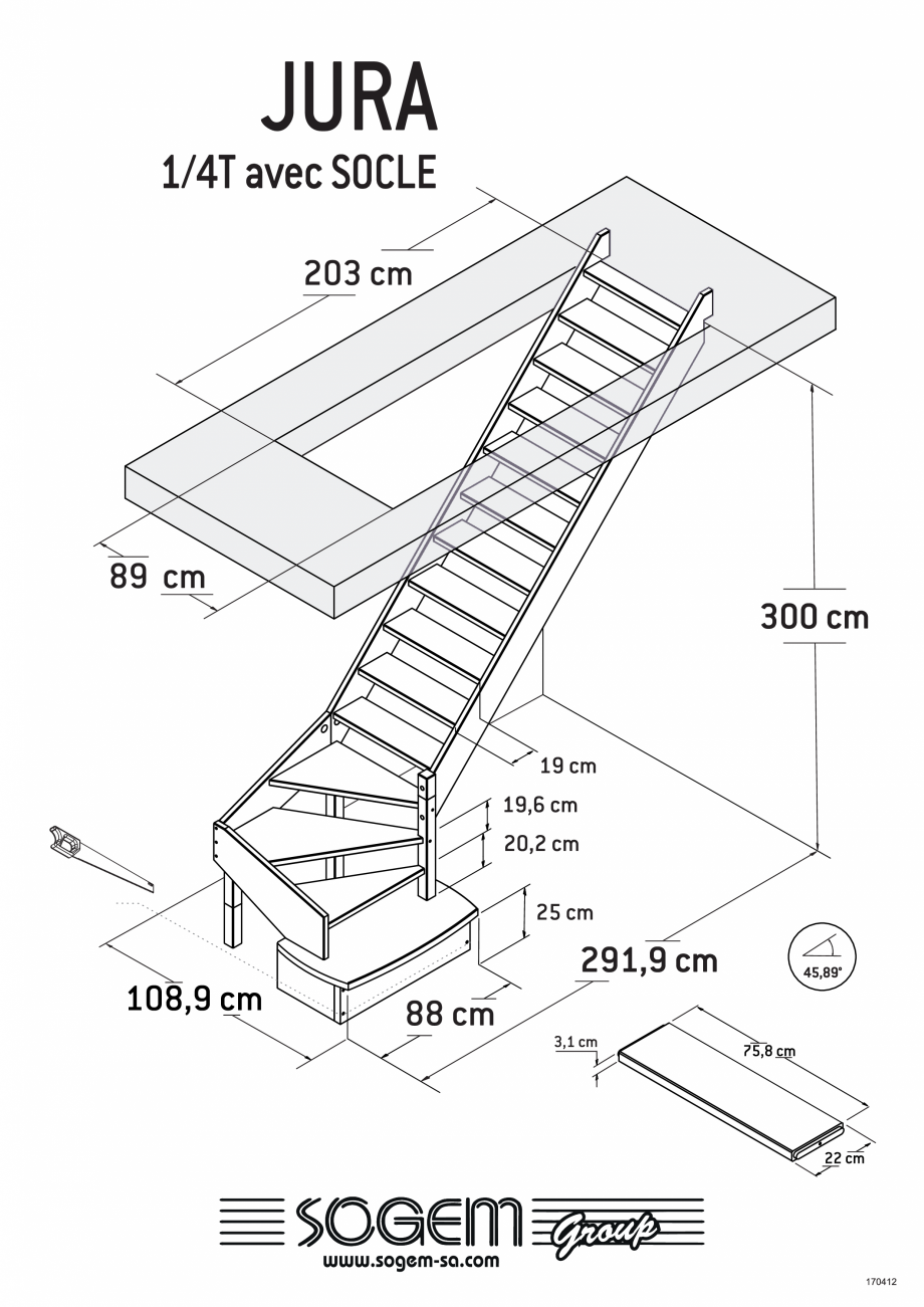 Pagina 4 - Scari pe structura din lemn SOGEM Jura Fisa tehnica Romana