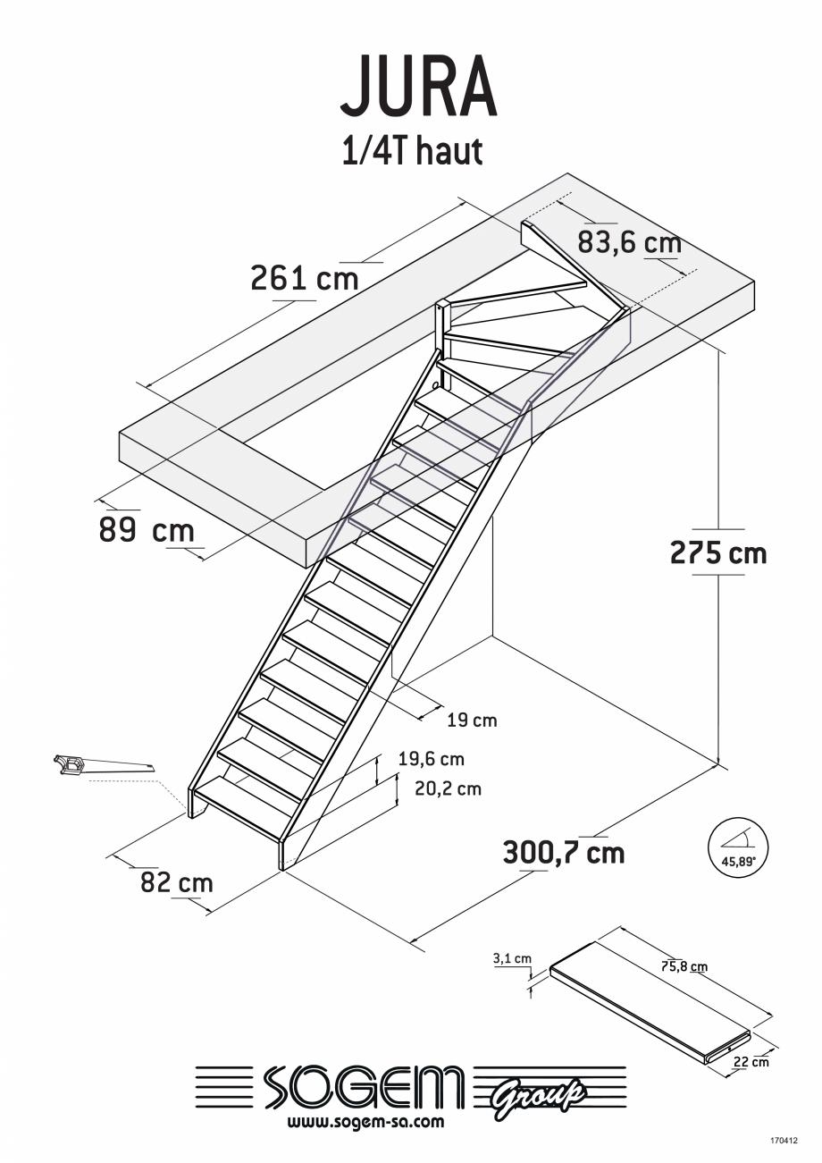 Pagina 5 - Scari pe structura din lemn SOGEM Jura Fisa tehnica Romana