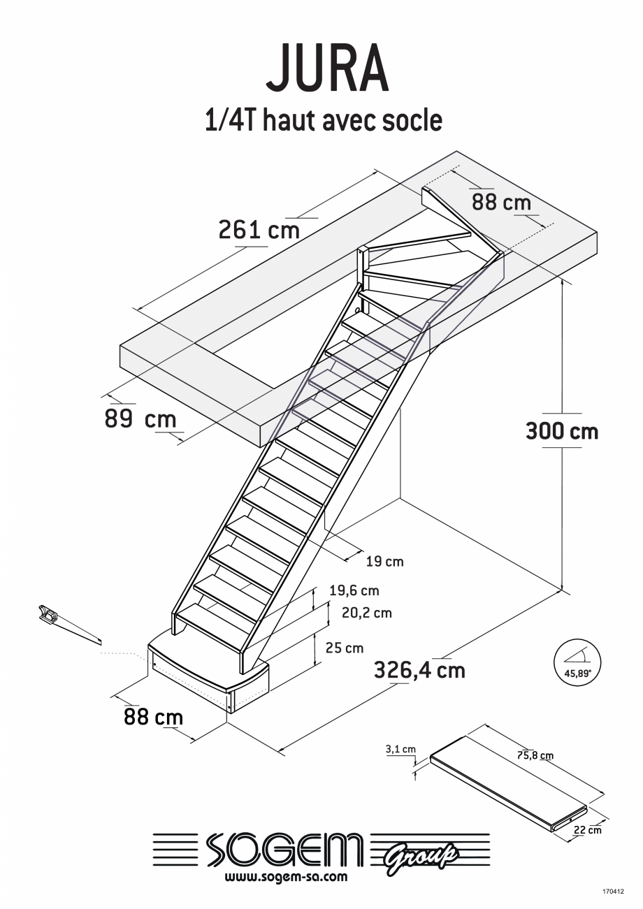 Pagina 6 - Scari pe structura din lemn SOGEM Jura Fisa tehnica Romana