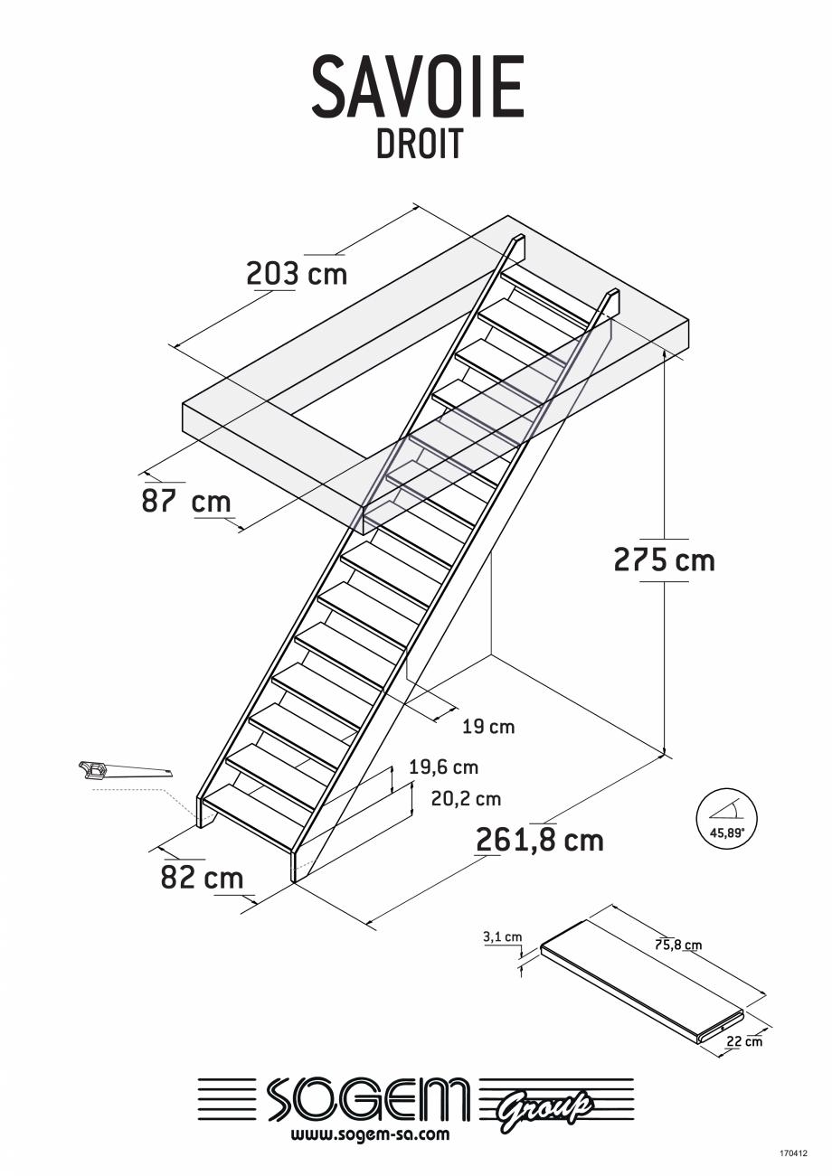Pagina 1 - Scari pe structura din lemn  SOGEM Savoie Fisa tehnica Romana