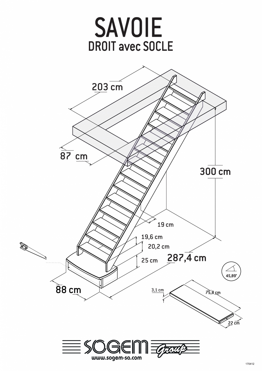 Pagina 2 - Scari pe structura din lemn  SOGEM Savoie Fisa tehnica Romana