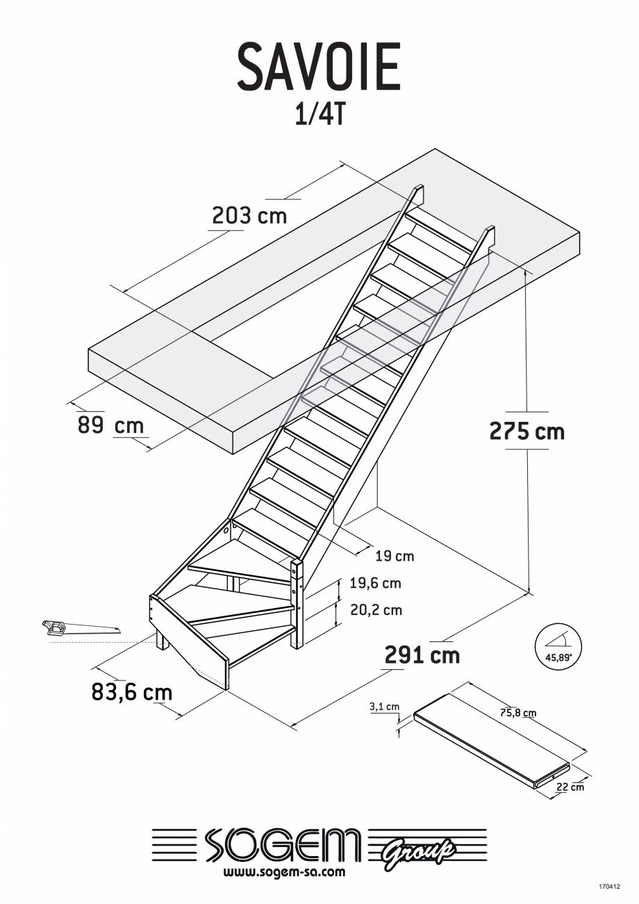 Pagina 3 - Scari pe structura din lemn  SOGEM Savoie Fisa tehnica Romana