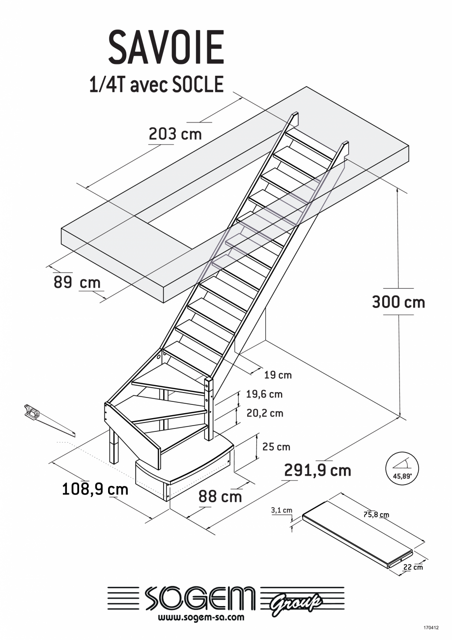 Pagina 4 - Scari pe structura din lemn  SOGEM Savoie Fisa tehnica Romana