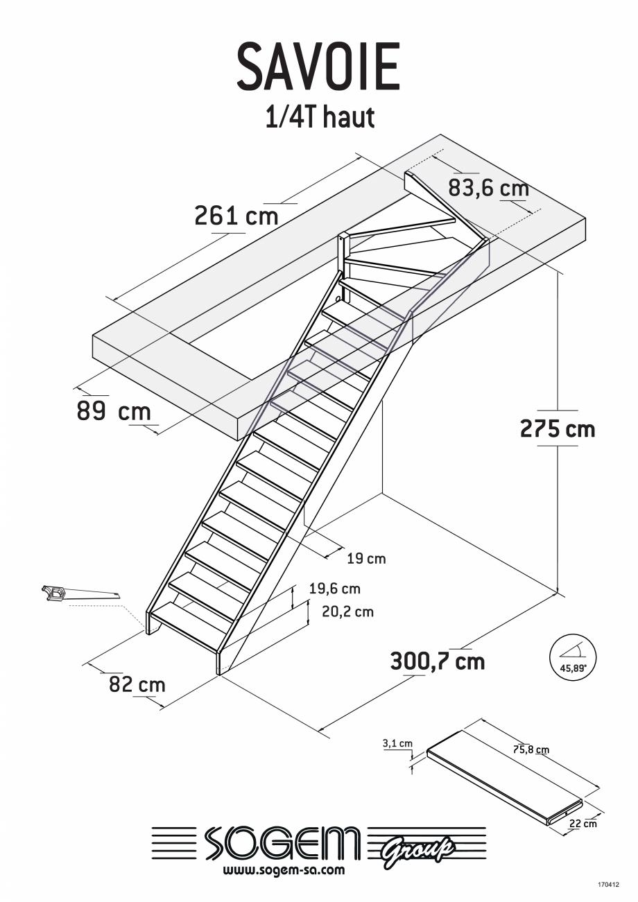 Pagina 5 - Scari pe structura din lemn  SOGEM Savoie Fisa tehnica Romana
