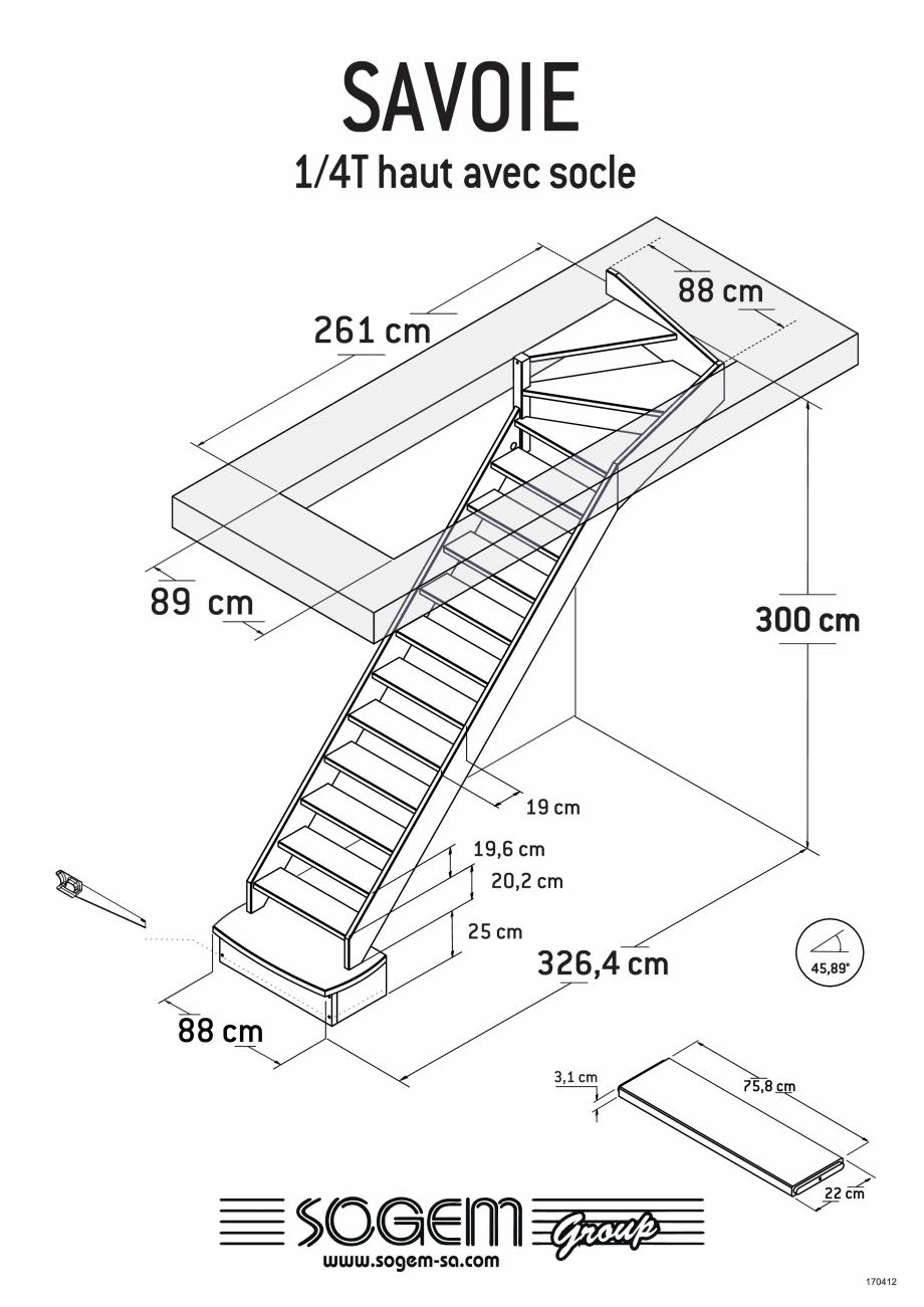 Pagina 6 - Scari pe structura din lemn  SOGEM Savoie Fisa tehnica Romana