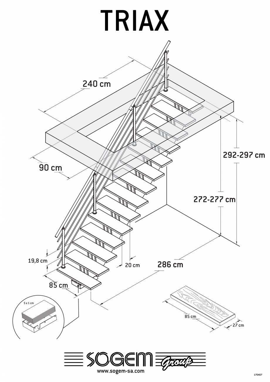 Pagina 1 - Scari pe structura din lemn SOGEM Triax Fisa tehnica Romana