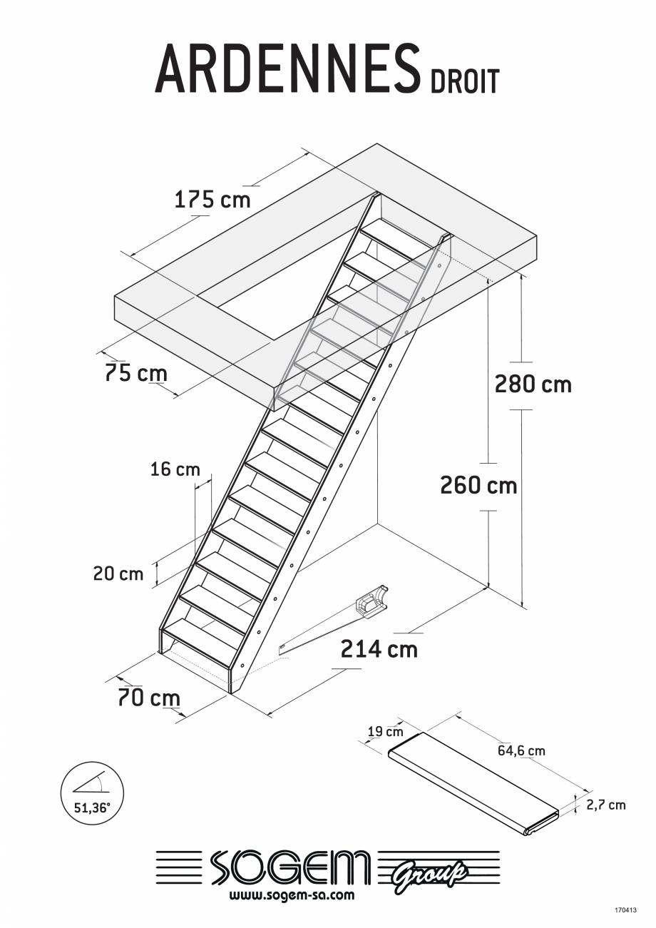 Pagina 1 - Scari pe structura din lemn SOGEM Ardennes Fisa tehnica Romana