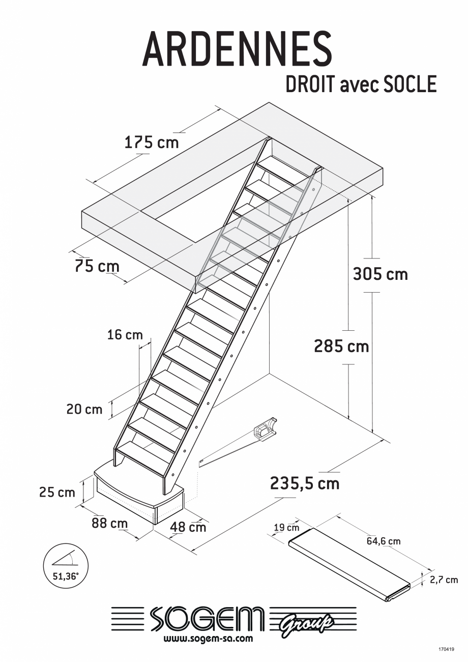 Pagina 2 - Scari pe structura din lemn SOGEM Ardennes Fisa tehnica Romana